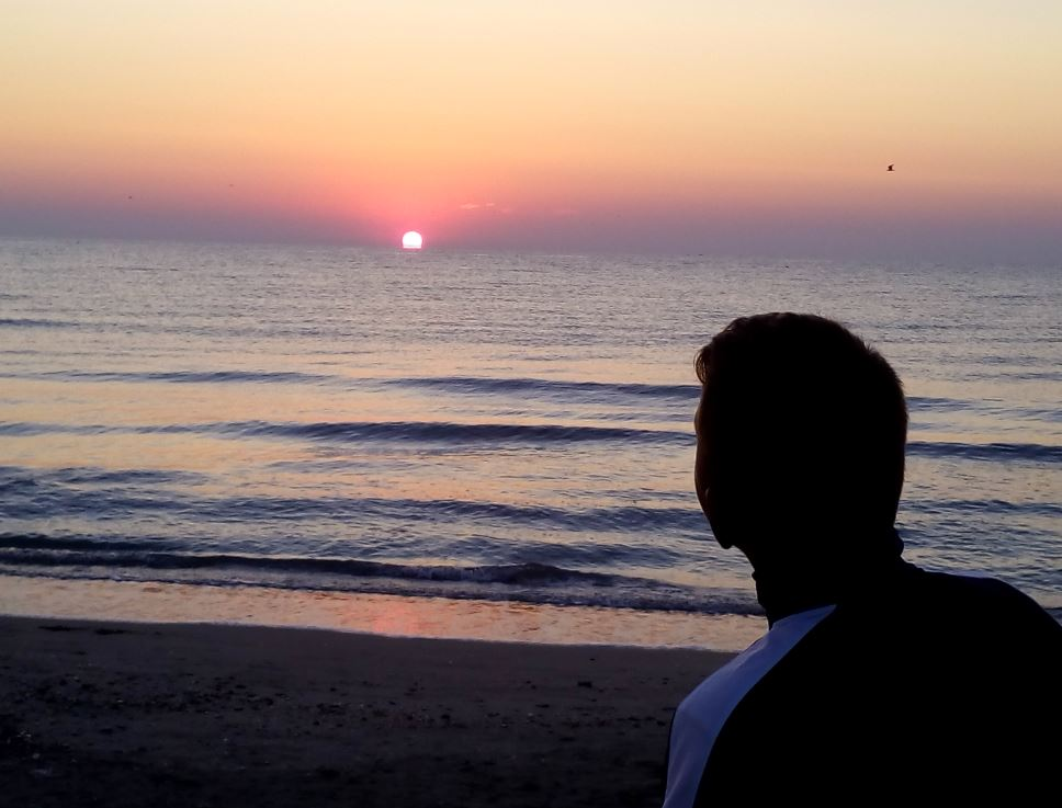 Rasarit de soare, litoralul romanesc.