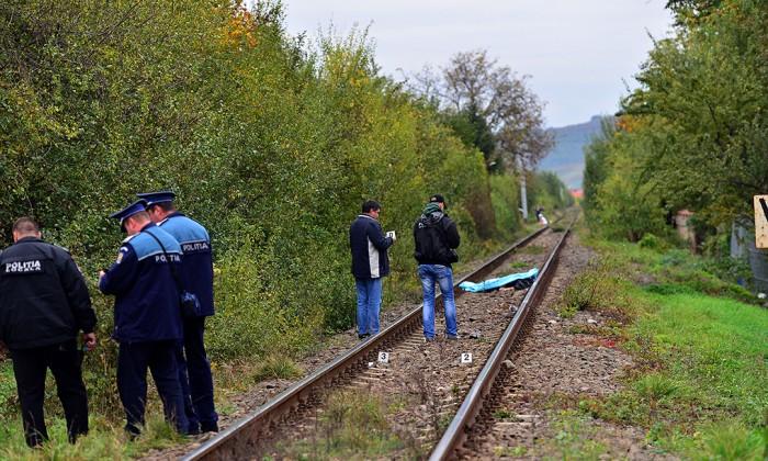 accident politie sine de cale ferata lovit de tren