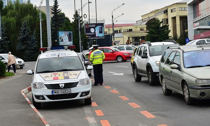masina politie circulatie radar