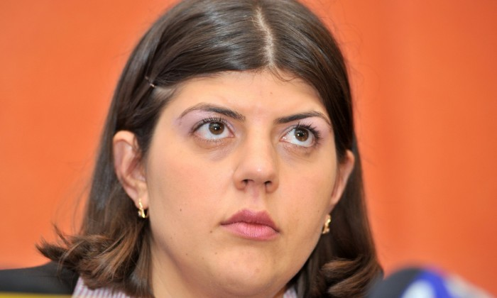 Codruta Laura Kovesi, procuror general al Parchetului de pe langa Inalta Curte de Casatie si Justitie, participa la o conferinta de presa in cadrul unei intalniri care are drept tema combaterea evaziunii fiscale, la Sibiu, joi, 25 noiembrie 2010.
