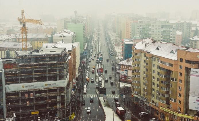 iarna circulatie sens giratoriu mihai viteazu