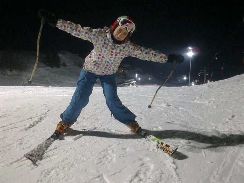 vedere slabă și schi alpin