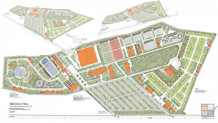 Schiță a aqua-park-ului propus prin studiul de fezabilitate din 2008