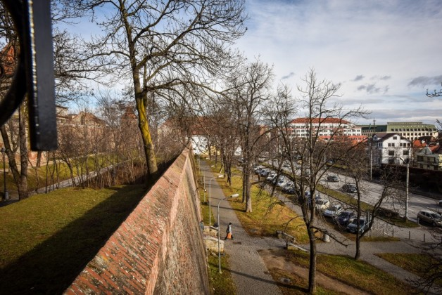 Sibiu parcul cetatii zid aparare primavara coposu (12) (Copy)