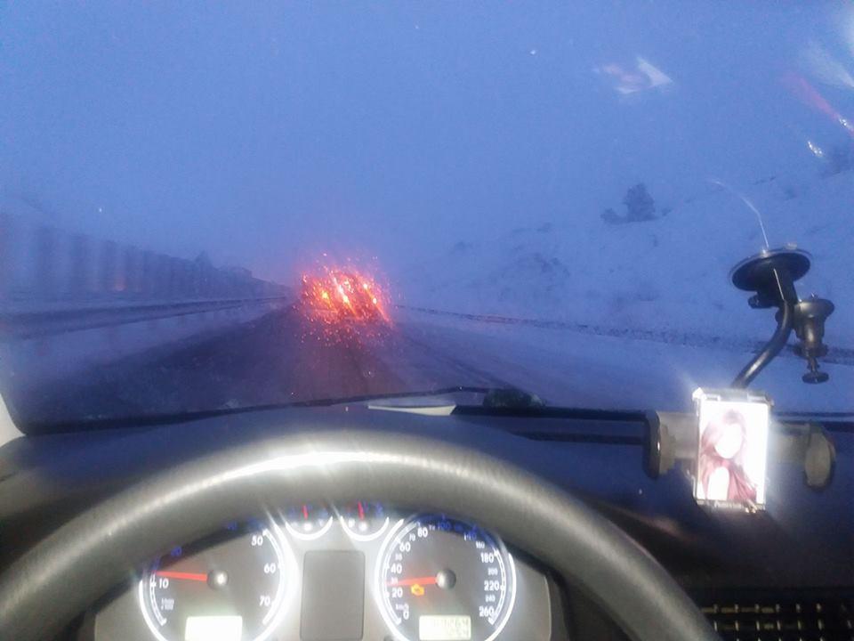 circulatie autostrada iarna