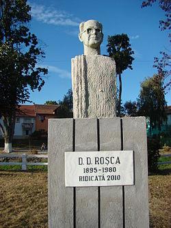 bustul lui D D Rosca in Saliste