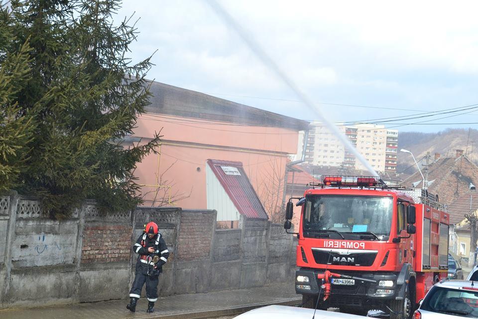 exercitiu ISU incendiu pompieri spital medias (1)