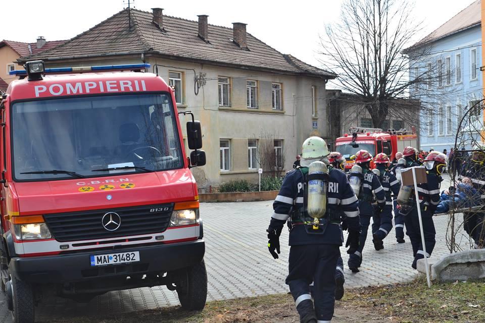 exercitiu ISU incendiu pompieri spital medias (2)