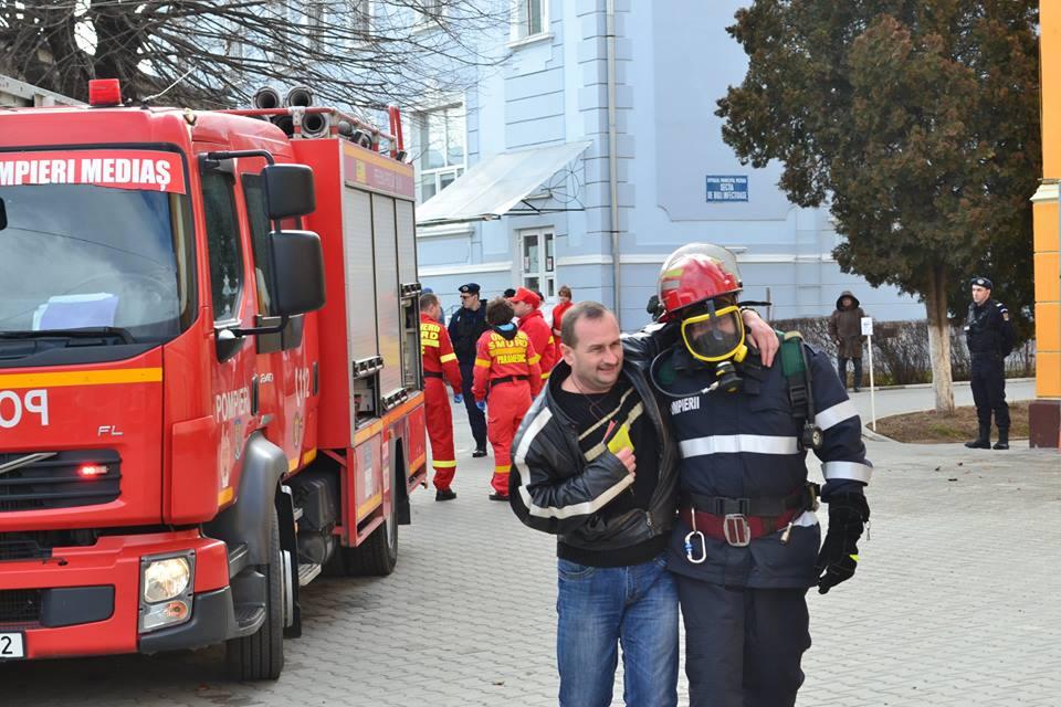 exercitiu ISU incendiu pompieri spital medias (5)