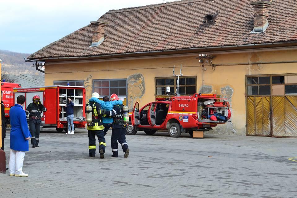exercitiu ISU incendiu pompieri spital medias (8)