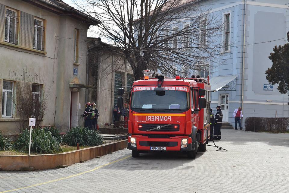 exercitiu ISU incendiu pompieri spital medias (9)