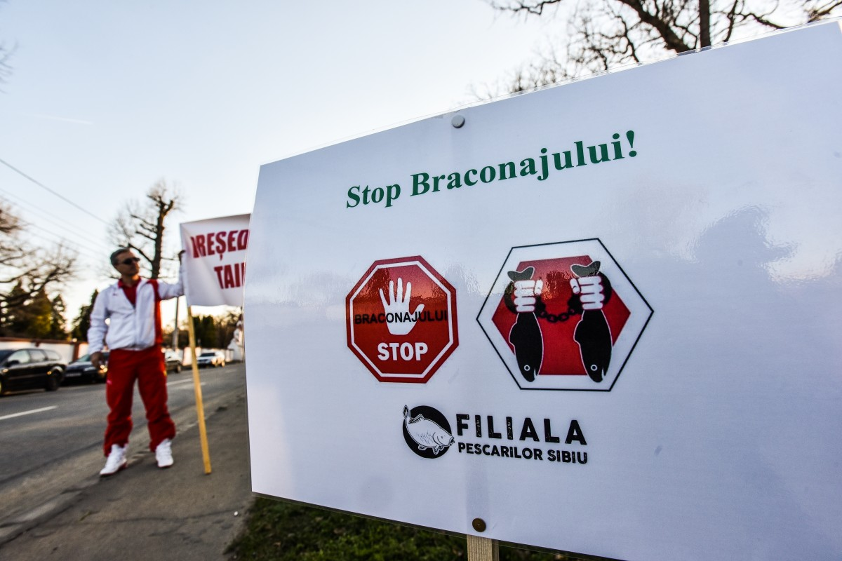 protest vanatori si pescari directia silvica (29)