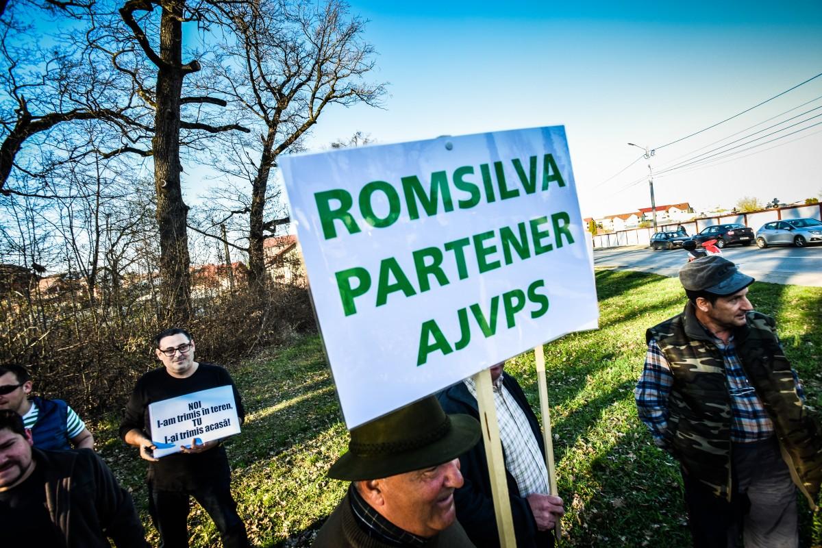 protest vanatori si pescari directia silvica (8)