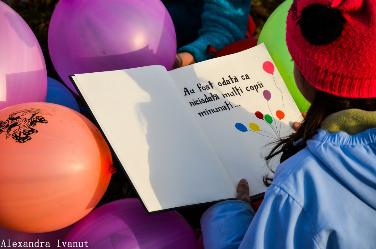 baloane copii asociatia de poveste maraton