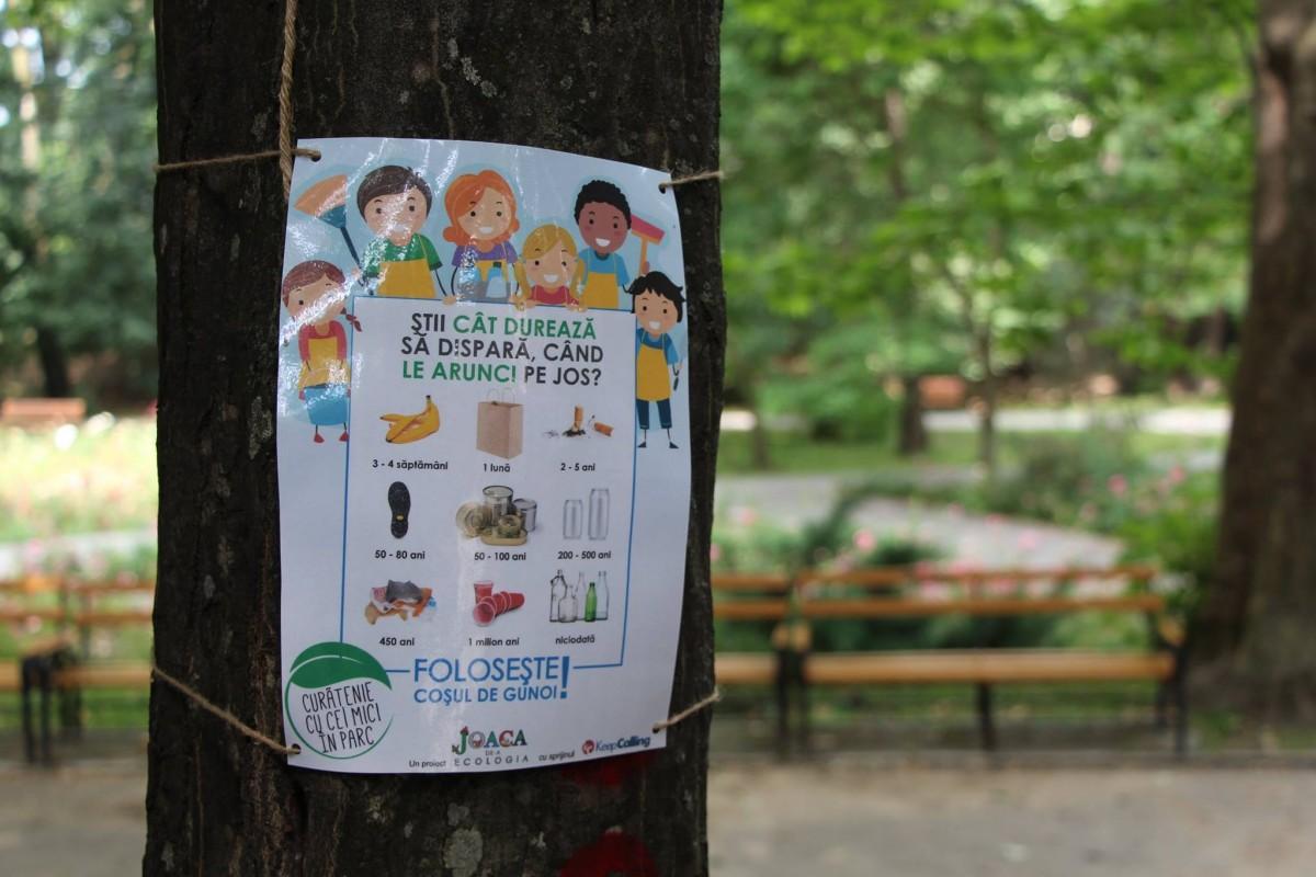 joaca de-a ecologia parcul sub arini gunoaie copii curatenie deseuri (6)