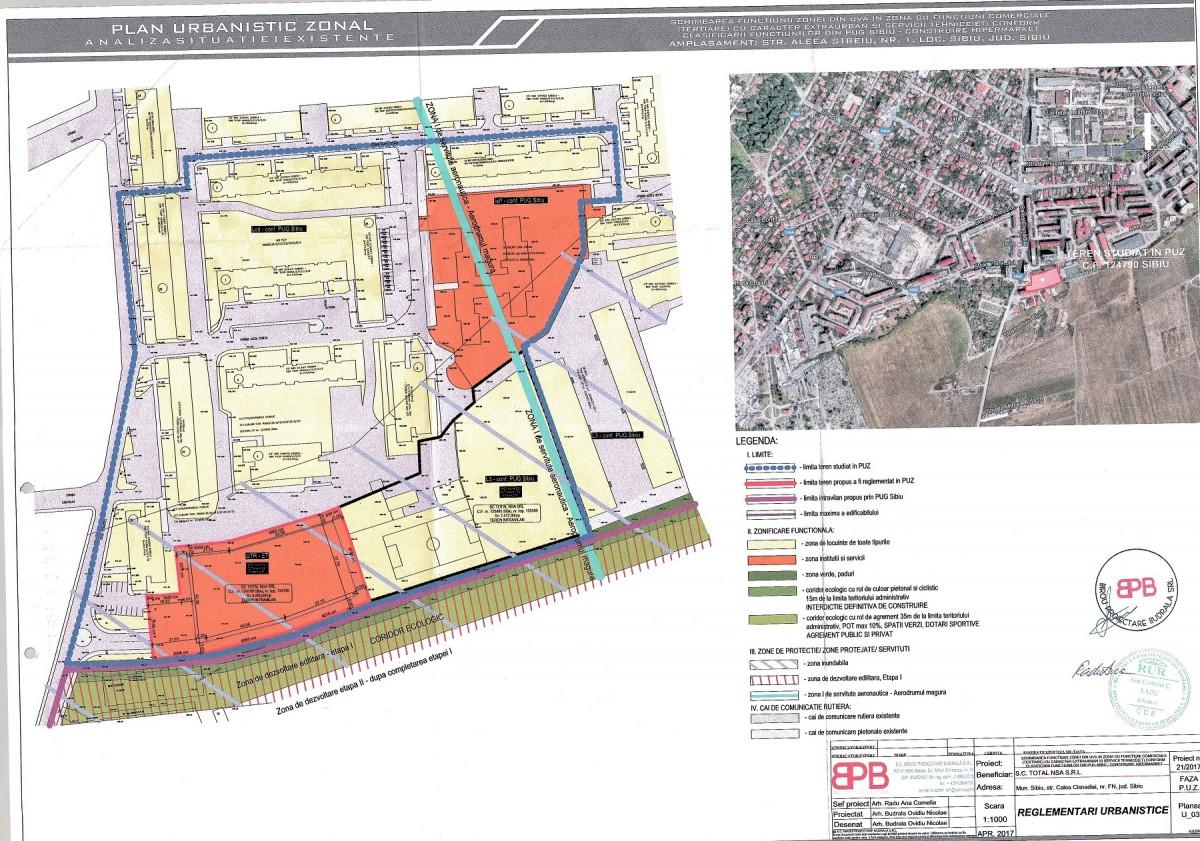 Hipermarketul ar urma amplasat la câțiva metri de limita administrativă a Sibiului