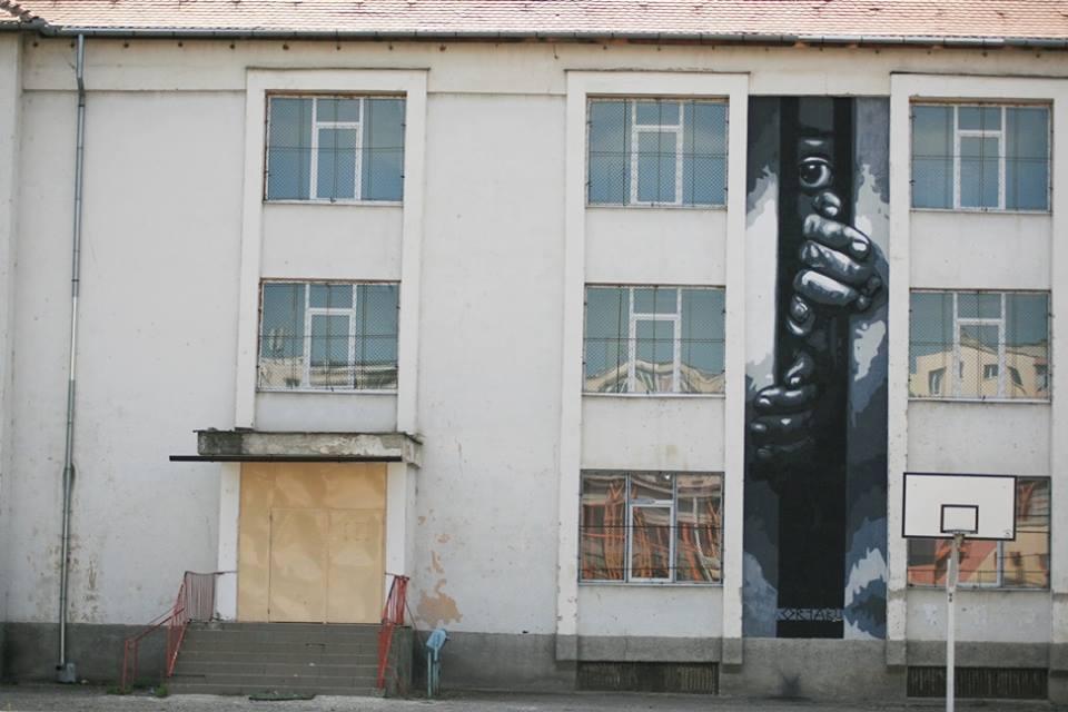 """Lucrare realizată de ortaku pe pereții Liceului teoretic """"Constantin Noica"""""""