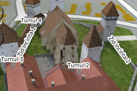 plan Biserica Evanghelica Fortificata din Agnita