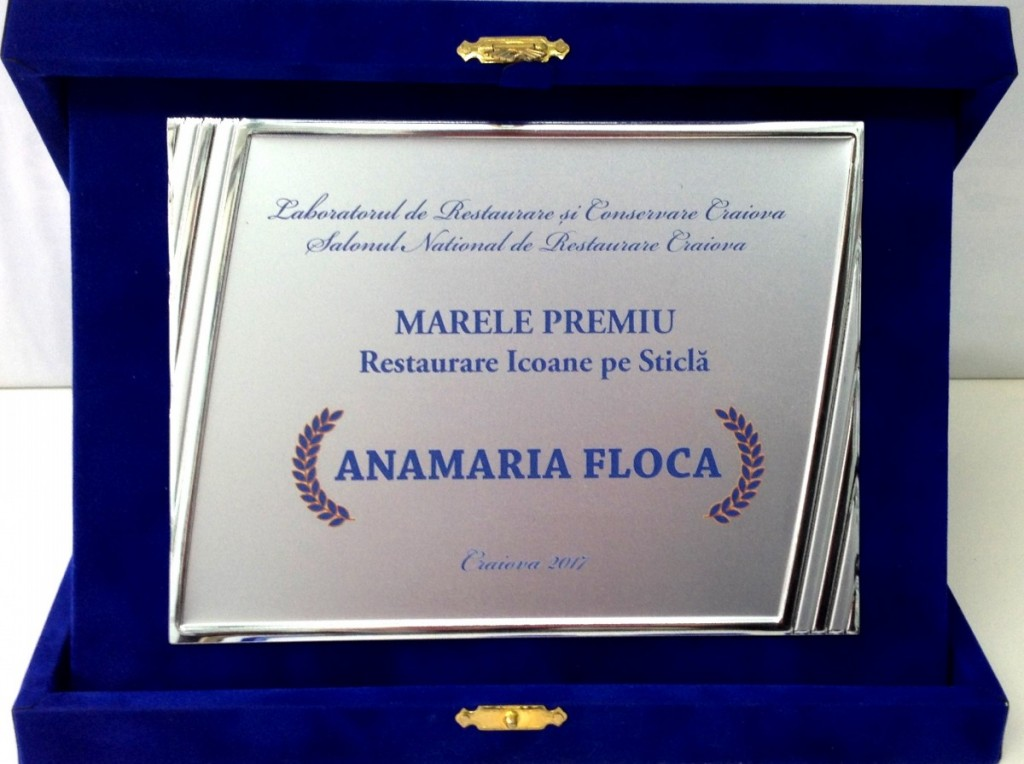 Anamaria Floca_Marele premiu - Restaurare icoane pe sticla