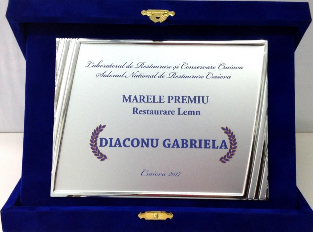 Gabriela Diaconu_Marele premiu - Restaurare lemn