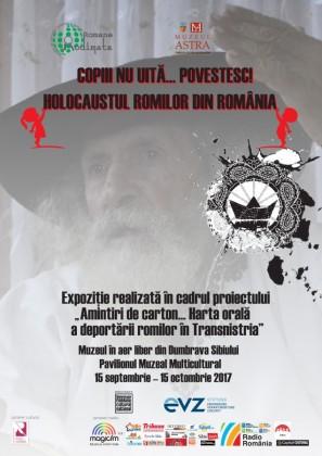 afis expozitia Holocaustul romilor