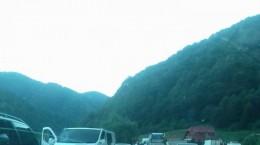 valea oltului coloana masini trafic