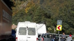 accident in lant valea oltului DN 7