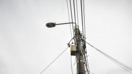 stalp iluminat cabluri cablaj strada Balea (7)