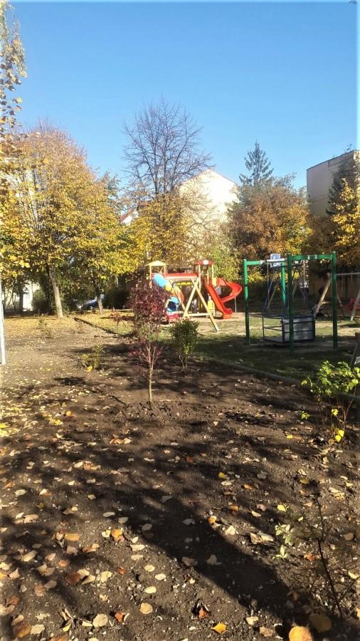 zona verde copaci loc de joaca