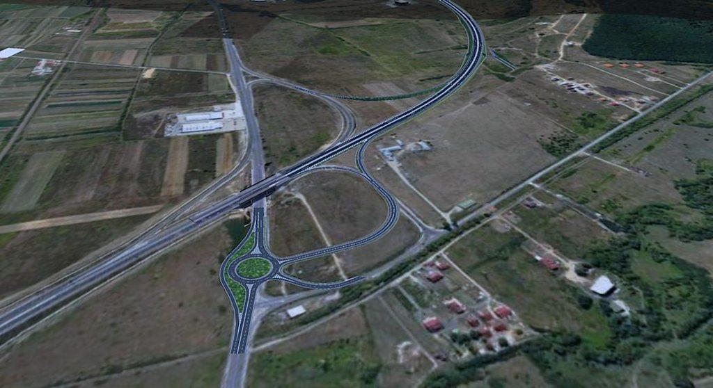 Nodul rutier Sibiu - sud va duce la reconfigurarea intersecție cu drumul înspre Cisnădie. Sursa simulării: utilizatorul delacroix al forum.peundemerg.ro