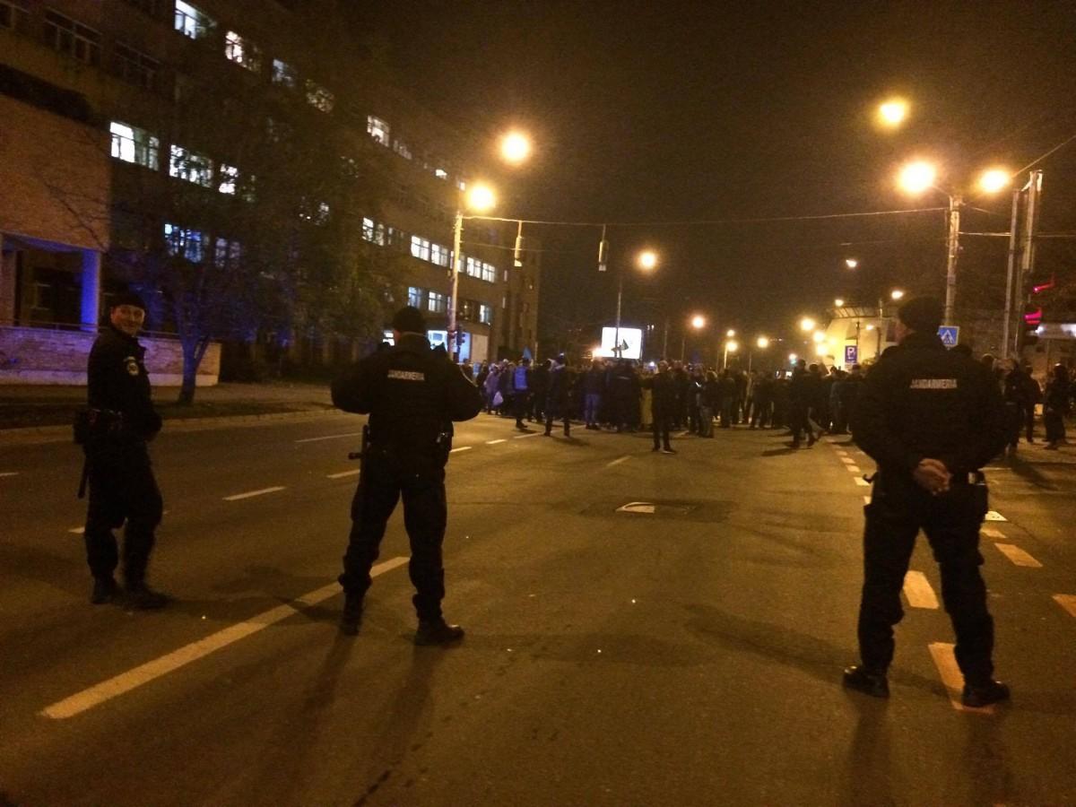 protest jandarmi blocheza coposu