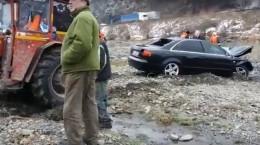 masina cazuta olt