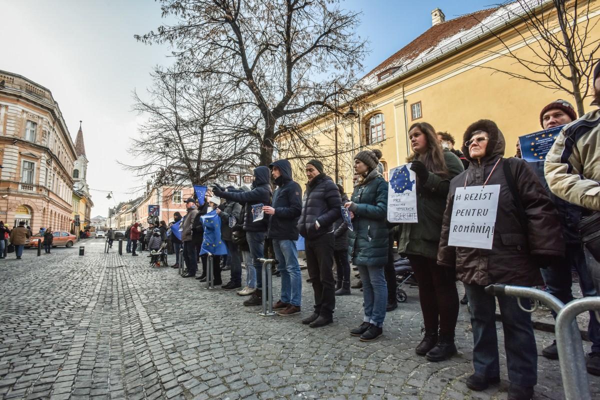 flashmob va vedem PSD protest (2)