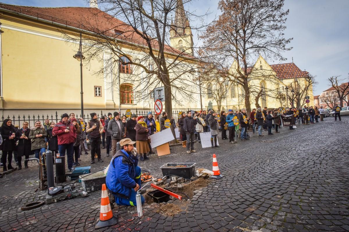 flasmob va vedem protest PSD (1)