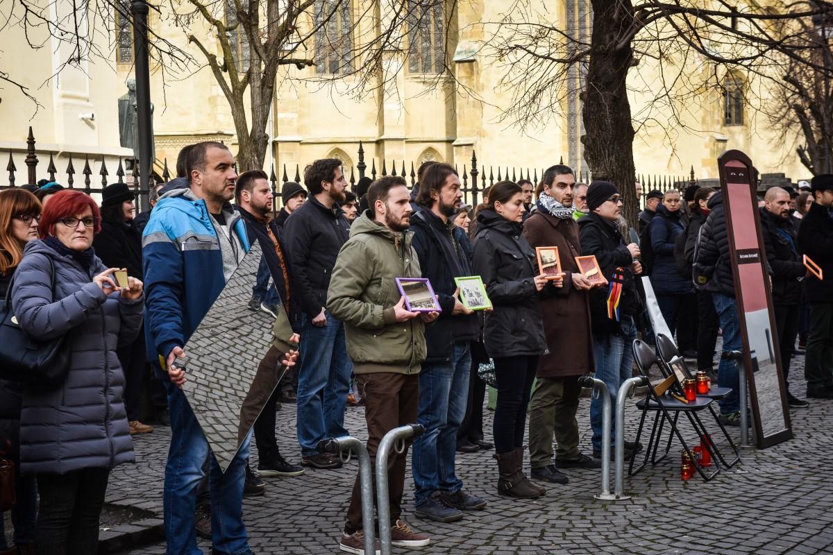 protest sediu PSD flashmob (1)