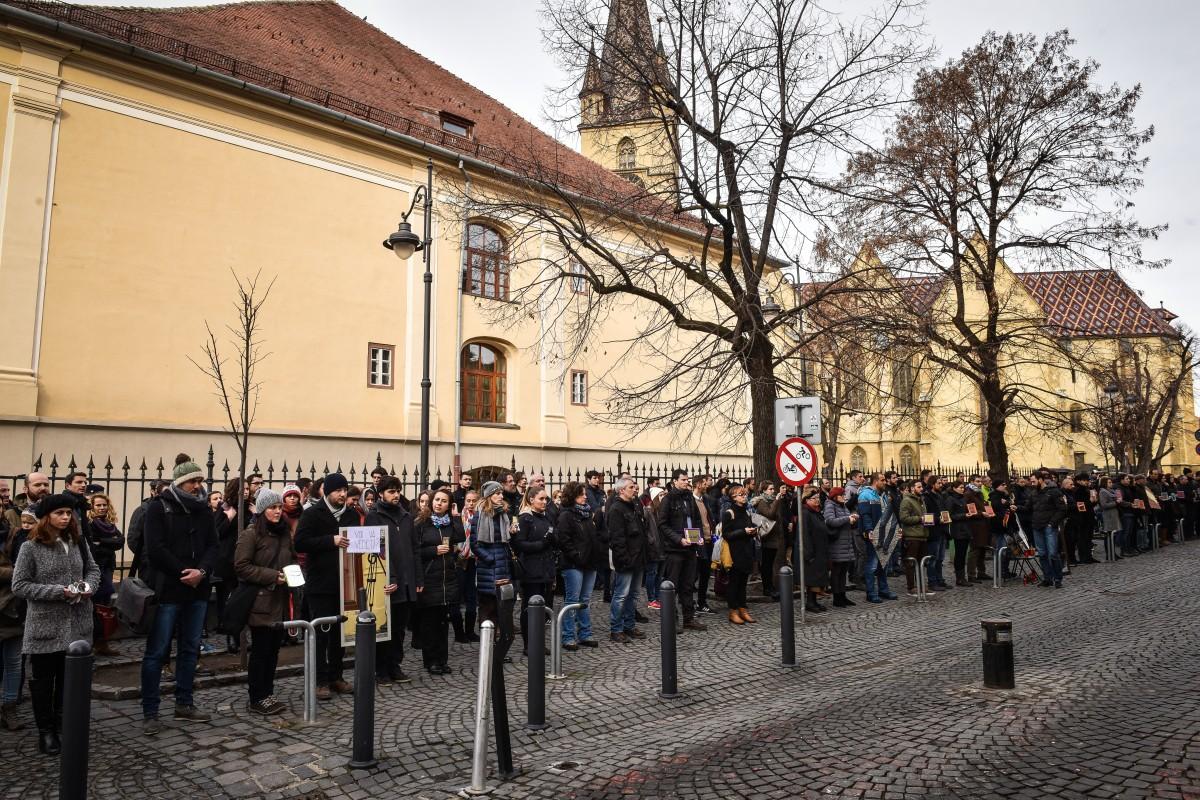 protest sediu PSD flashmob (13)