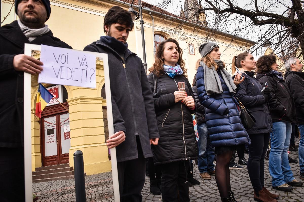 protest sediu PSD flashmob (14)