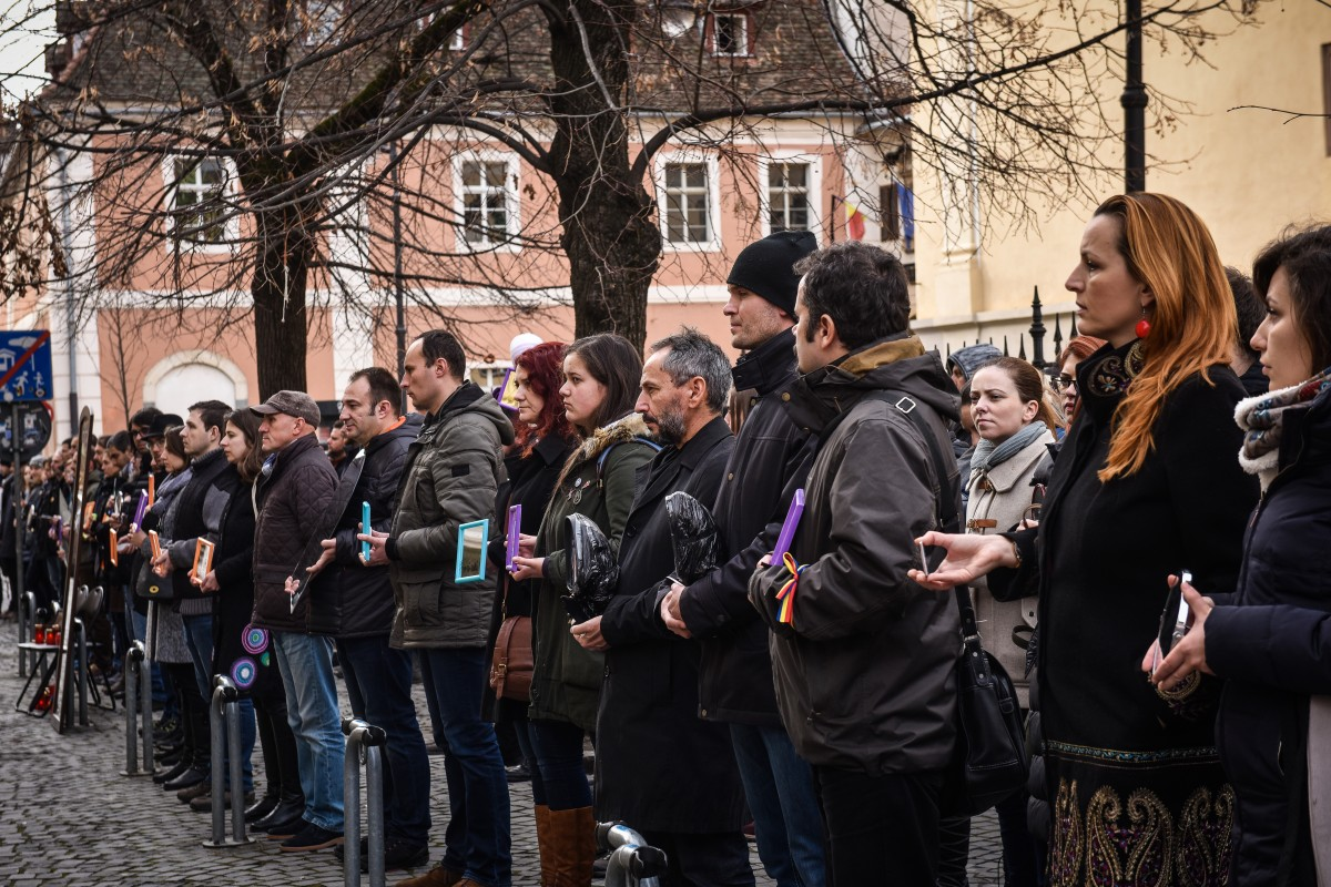 protest sediu PSD flashmob (16)