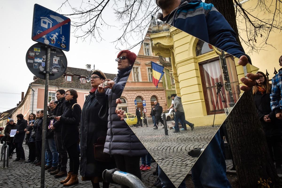 protest sediu PSD flashmob (6)