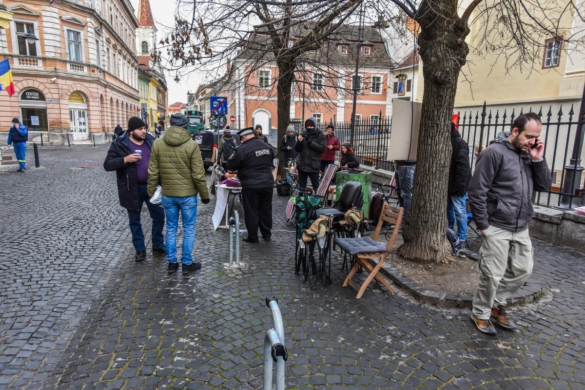 sit in protest sediu PSD (1)