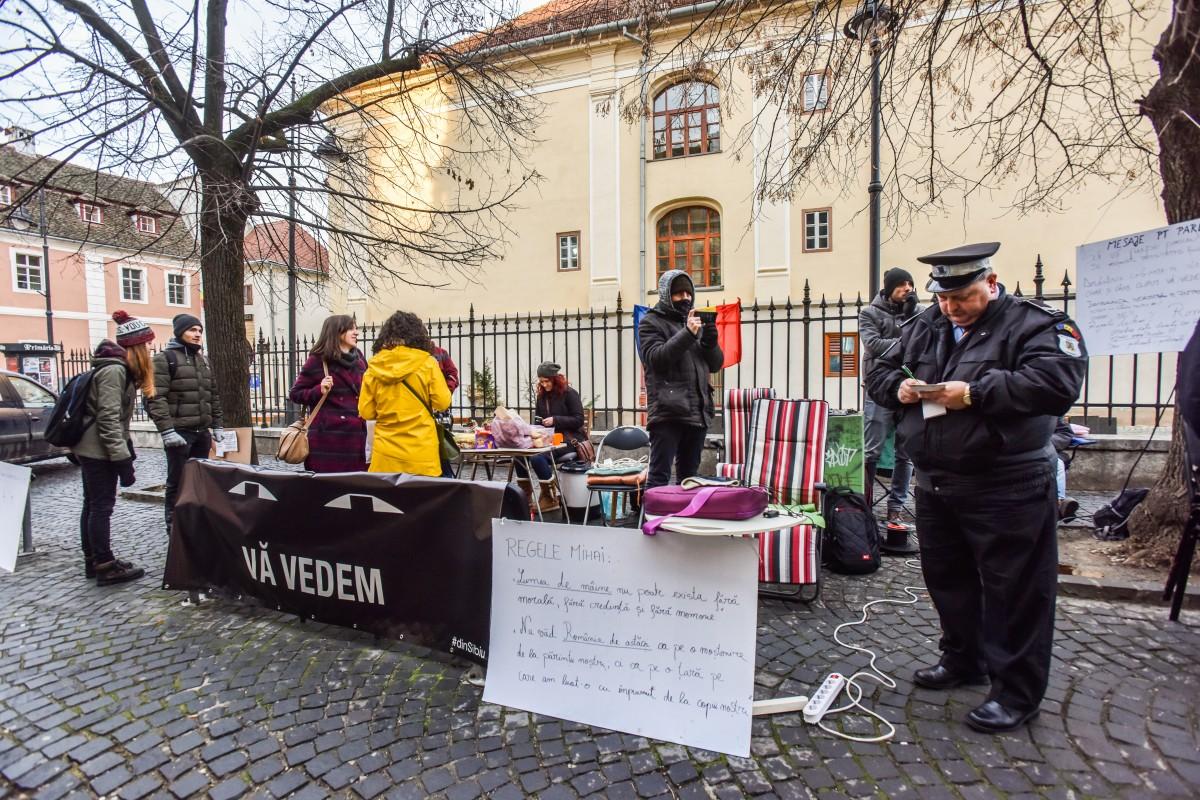 sit in protest sediu PSD (3)