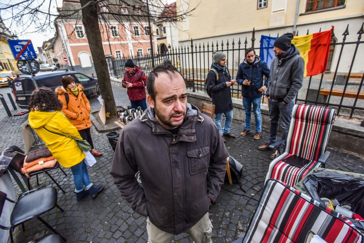 sit in protest sediu PSD ciprian ciocan (10)