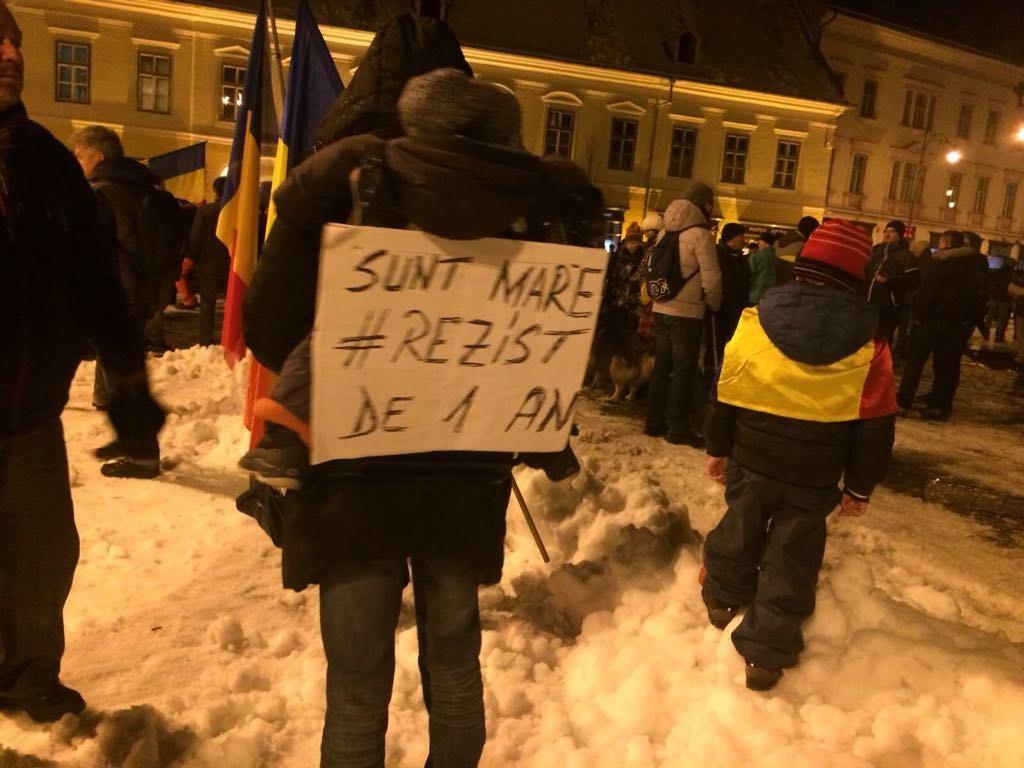 protest rezist 20 ianuarie