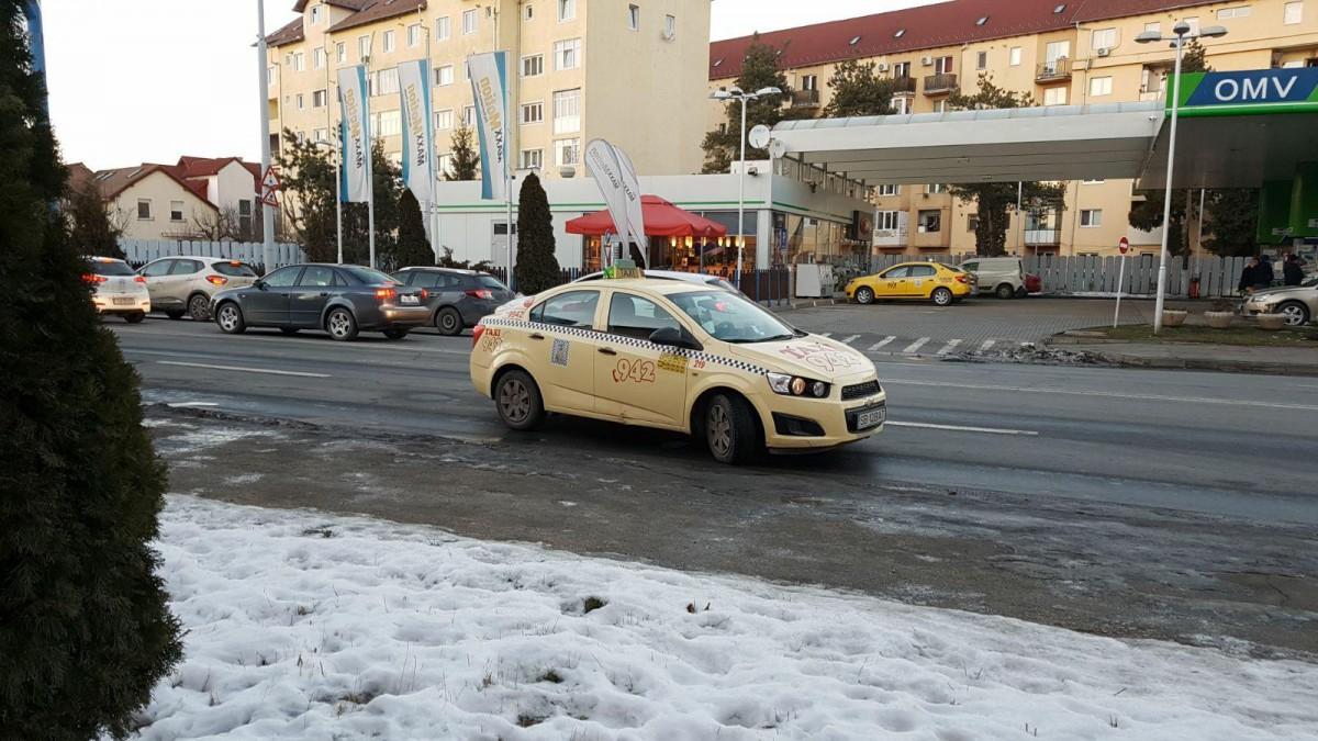 accid taxi tarata Milea OMV benzinarie