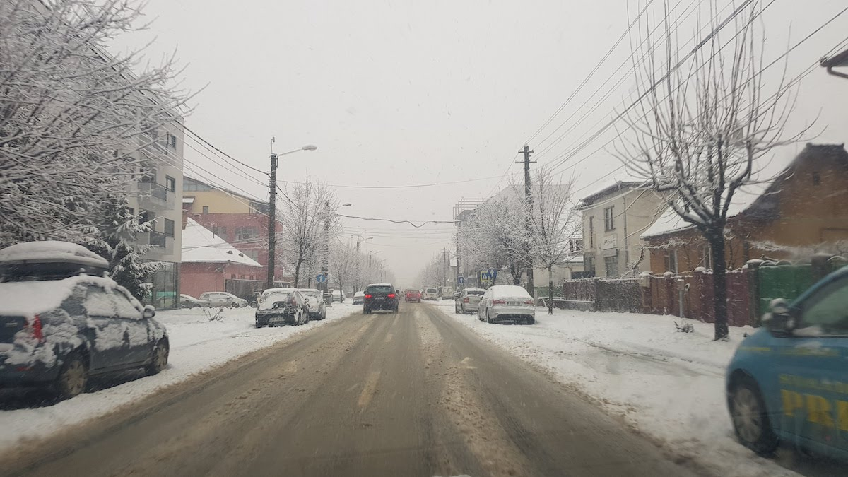 calea udmbravii zapada iarna