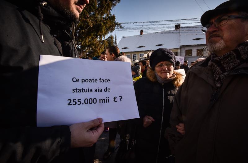 protest Cisnadie cartierul arhitectilor (1)