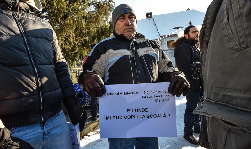 protest Cisnadie cartierul arhitectilor (12)