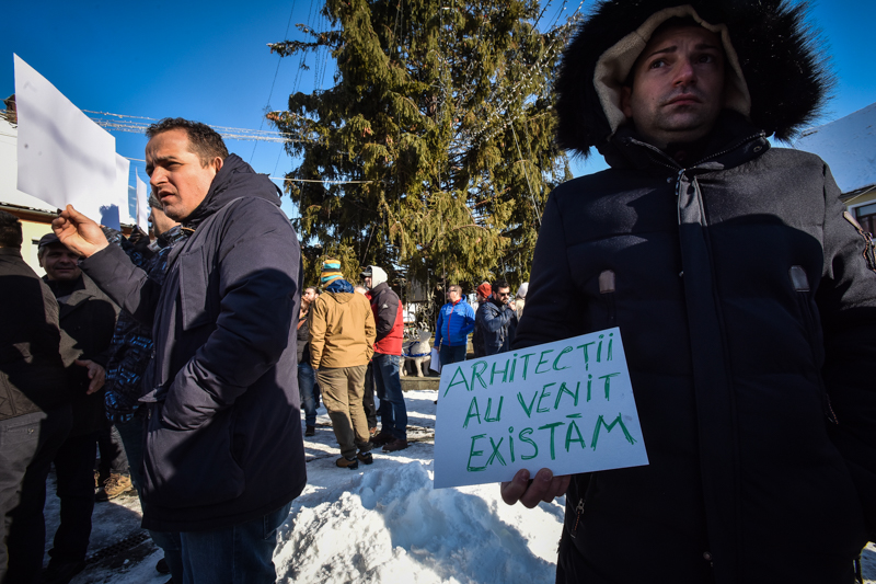 protest Cisnadie cartierul arhitectilor (15)