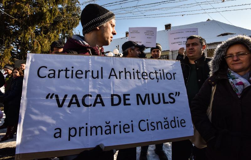 protest Cisnadie cartierul arhitectilor (18)