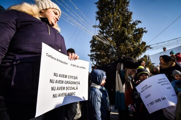 protest Cisnadie cartierul arhitectilor (9)
